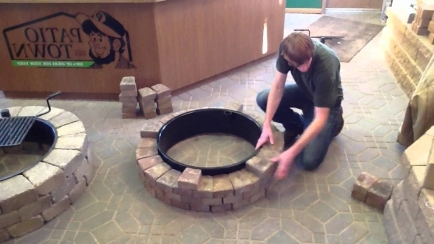 Alluring Fire Pit Bricks Home Depot How To Build A Fire Pitfire Ring Youtube