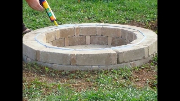Alluring Fire Pit Bricks Home Depot Visual Tutorial On How To Build A Stone Fire Pit Using Rumblestone