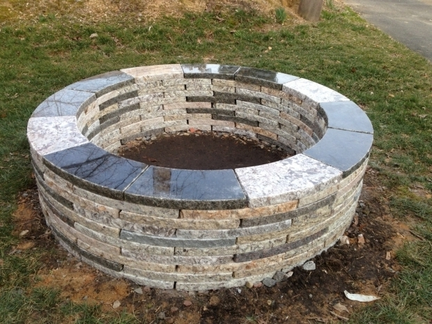 Alluring Fire Pit Kit Stone Recycled Granite Fire Pit Kit