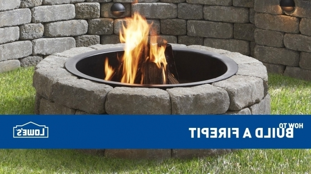 Alluring Lowes Fire Pit Stones How To Build An Outdoor Fire Pit Youtube