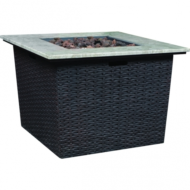 Alluring Lowes Gas Fire Pits Shop Bond Somersville 3465 In W 50000 Btu Brown Wicker Look