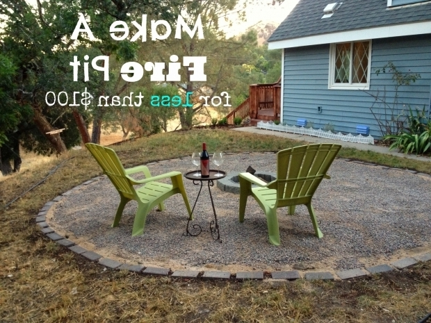 Alluring Pea Gravel Fire Pit We Made A Fire Pit Our Cone Zone