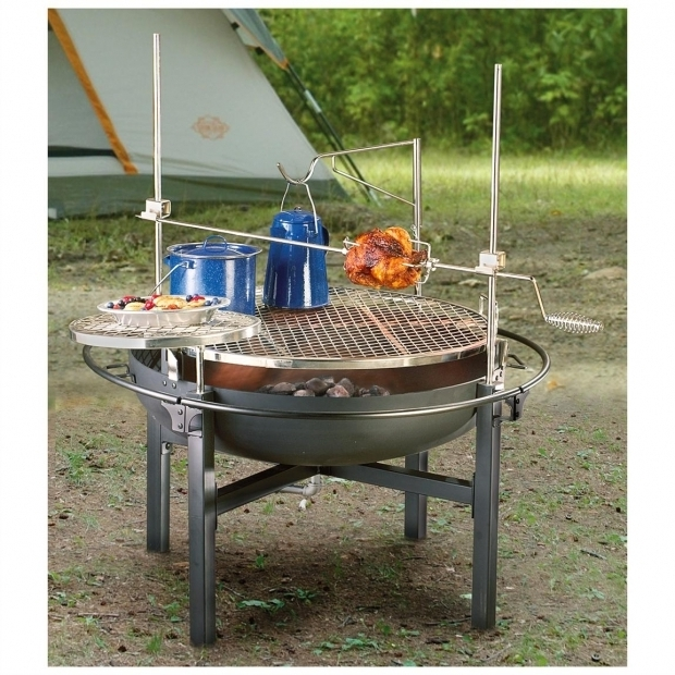 Amazing Cowboy Fire Pit Grill Cowboy Fire Pit Rotisserie Grill 282386 Stoves At Sportsmans