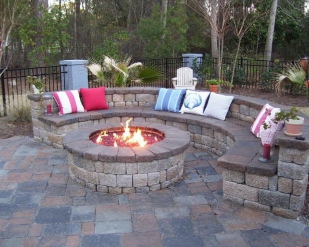 Small Backyard Fire Pit Ideas lovely patio fire pit ideas 9 brick design Amazing Fire Pit Ideas For Small Backyard Build A Backyard Landscaping Ideas With Fire Pit Design