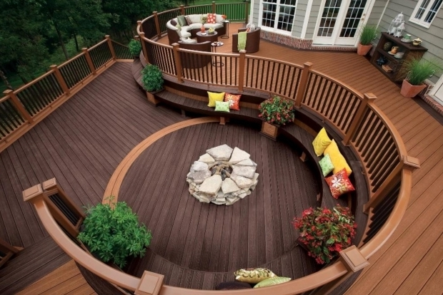 Amazing Fire Pit On Wood Deck Wood Deck Fire Pit Ideas Home Design Ideas
