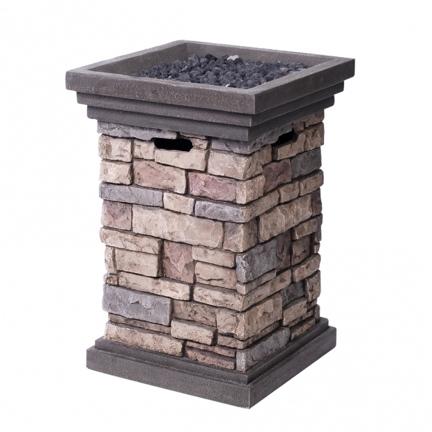 Amazing Lowes Propane Fire Pit Shop Allen Roth Canyon Ridge 1949 In W 30000 Btu Stone Design