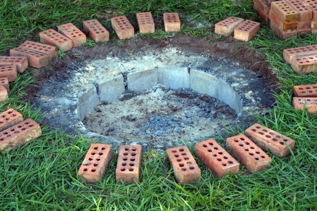 Awesome Fire Pit Bricks Home Depot Diy Ellissurf