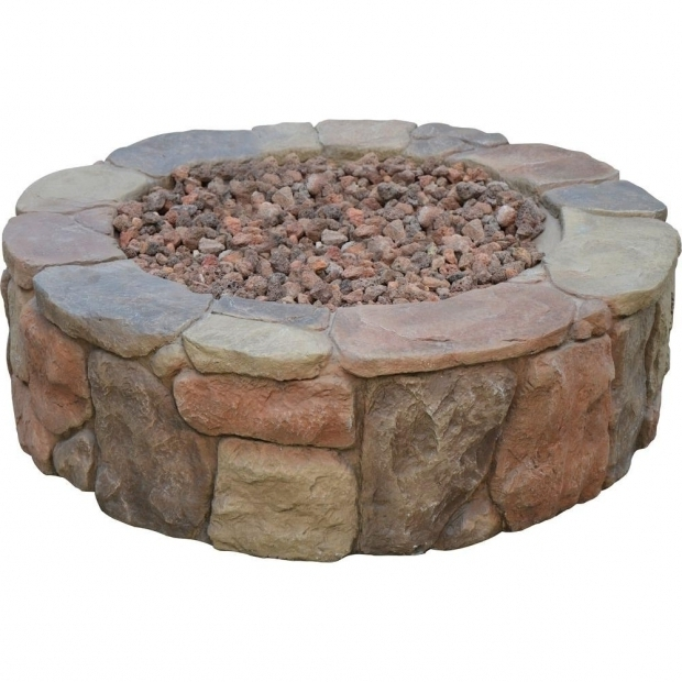 Awesome Fire Pit Rocks Home Depot Hampton Bay Petra 36 In Round Envirostone Propane Fire Pit