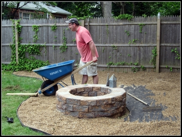 Awesome Pea Gravel Fire Pit Homeroad Building A Fire Pit