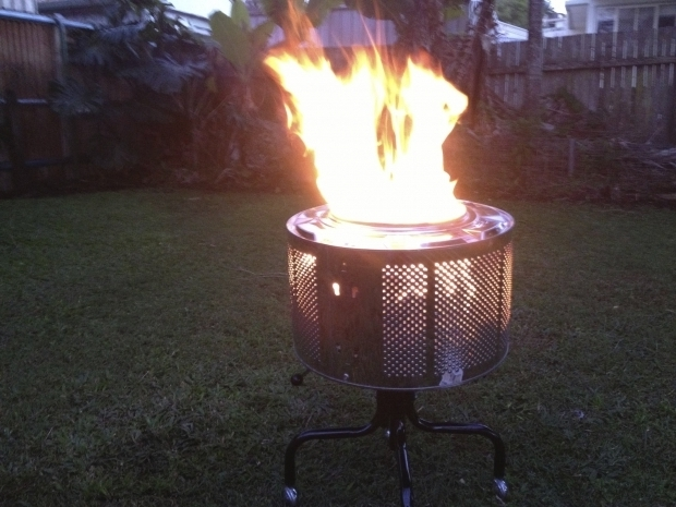 Awesome Washer Tub Fire Pit How To Make A Great Looking Fire Pit Out Of An Old Washing Machine