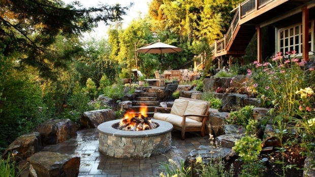 Beautiful Backyard Landscaping Ideas With Fire Pit Build A Backyard Landscaping Ideas With Fire Pit Design Ideas