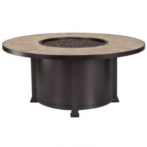 Delightful Fire Pit Clearance Santorini 54quot Round Chat Height Fire Pit With Clearance Tile