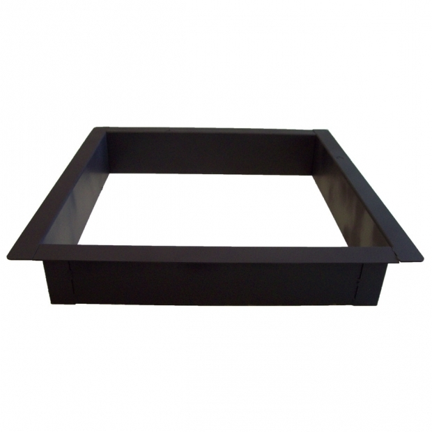 Delightful Square Fire Pit Ring Shop Steel Black Fire Ring At Lowes