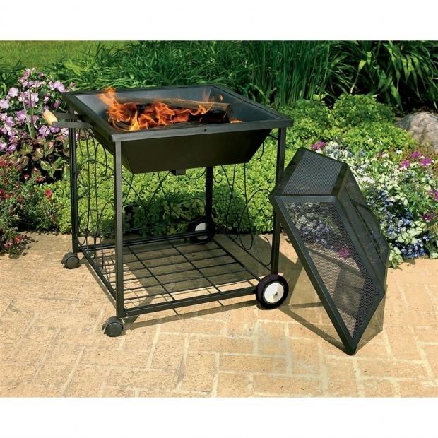 Fantastic Fire Pit On Wheels Cobraco Square Portable Fire Pit With Wheels 138670 Fire Pits