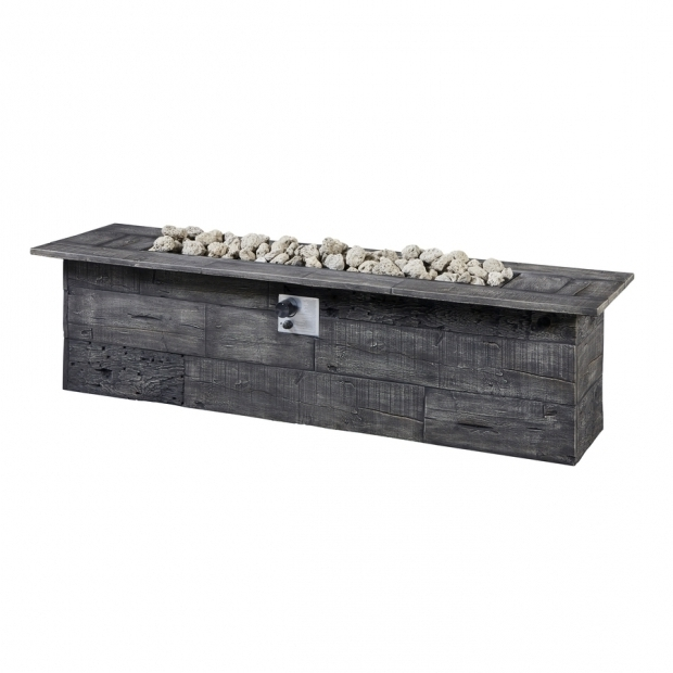 Fantastic Lowes Propane Fire Pit Shop Garden Treasures 72 In W 70000 Btu Gray Composite Liquid