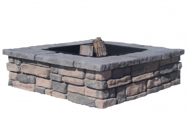 Fantastic Square Fire Pit Ring Country Stone Fire Ring Pit Patio Block Project Kit Modern Patio