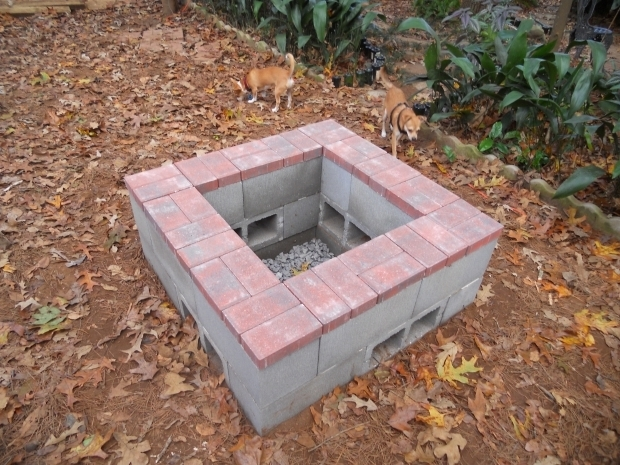 concrete block fire pit fire pit ideas