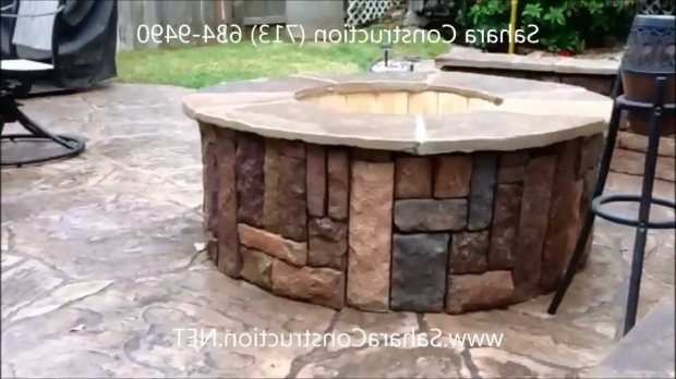 Fascinating Fire Pits Houston Houston Fire Pit And Stamped Concrete Sahara Construction Youtube