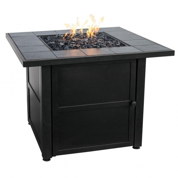 Fascinating Propane Fire Pit Home Depot Uniflame Slate Tile Propane Gas Fire Pit Gad1399sp The Home Depot