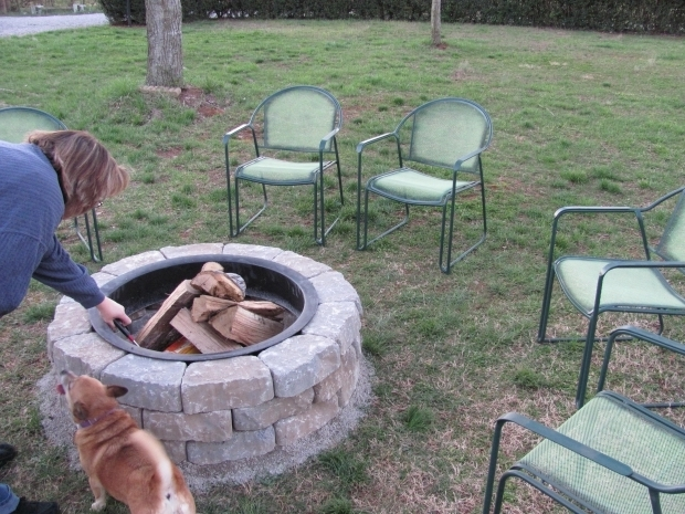 Gorgeous Lowes Fire Pit Stones Garden Giving Awesome Design Of The Fire Pit Kit Completion