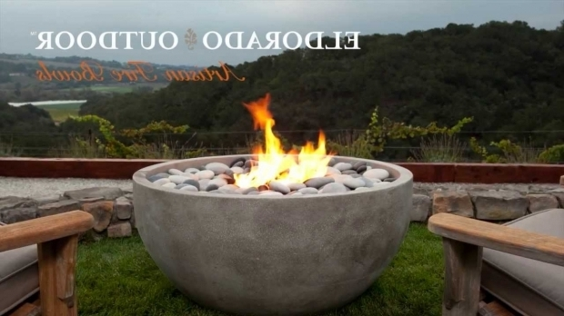 Image of Concrete Bowl Fire Pit Eldorado Stone Artisan Fire Bowls Youtube