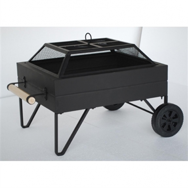 Image of Fire Pit On Wheels Steel Fire Pit On Wheels 190615 Fire Pits Amp Patio Heaters At