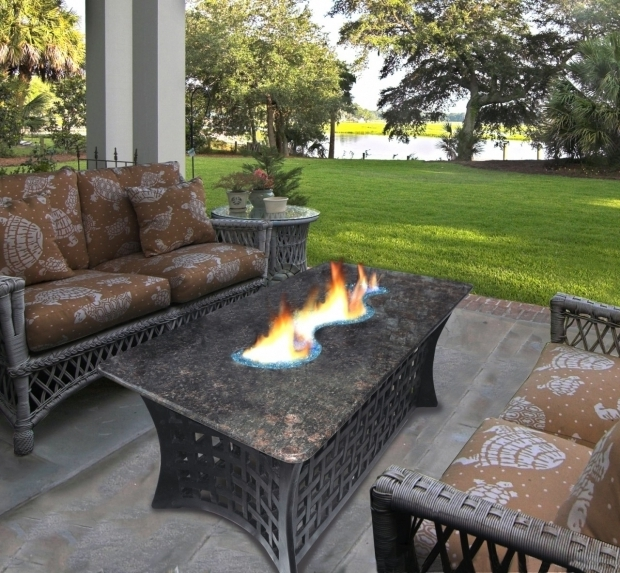 Image of Outdoor Patio Set With Fire Pit Gas Fire Pit Table Patio Set Vidrian