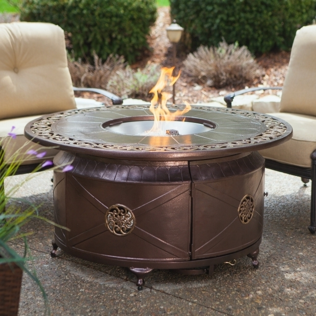 Incredible Lp Fire Pit Table Red Ember Richland 48 In Round Propane Fire Pit Table With
