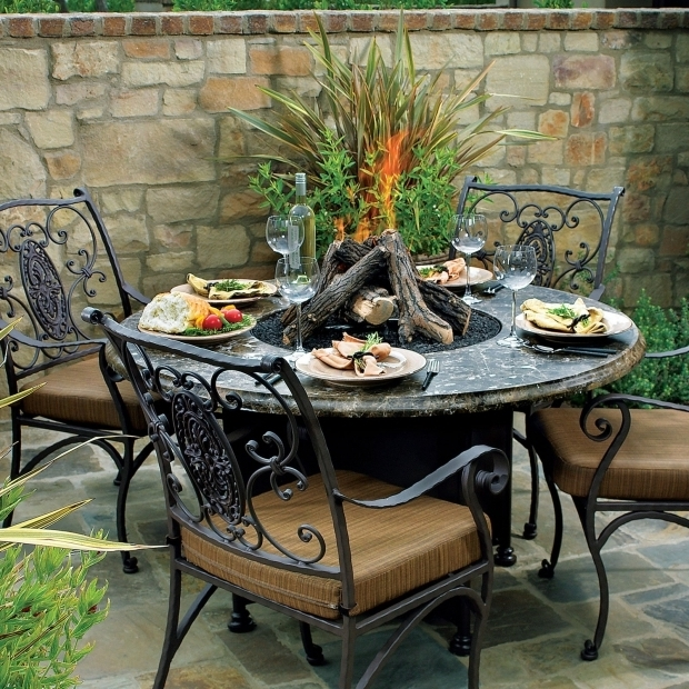 Inspiring Gas Fire Pit Table And Chairs Gas Fire Pit Table And Chairs Vidrian