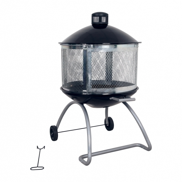 Marvelous Rolling Fire Pit Living Accents 28in Steel Black Firepit At Ace Hardware