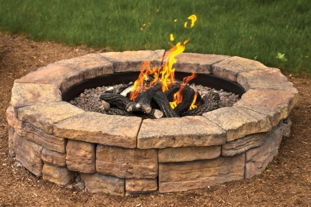 Outstanding Fire Pit Kit Stone Outdoor Fire Features Wwwmansfieldbrickandsupply