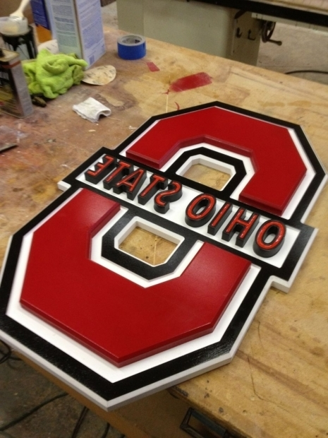 Outstanding Ohio State Fire Pit Hand Made Ohio State Sign Raw Creations Cnc Custommade
