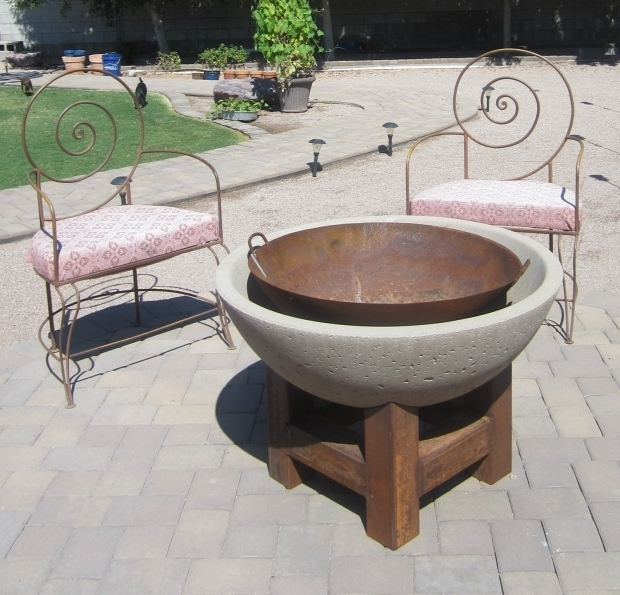 Picture of Concrete Bowl Fire Pit Ink Rust And Sawdust Diy Fire Pit