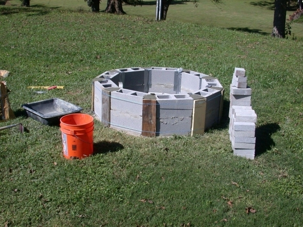 Picture of Diy Cinder Block Fire Pit Cinder Block Fire Pit Inexpensive And Attractive Ideas
