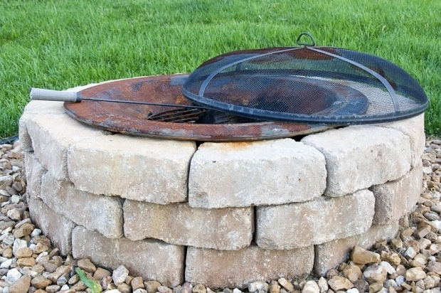 Picture of How To Build A Stone Fire Pit How To Build An Outdoor Firepit The Polkadot Chair