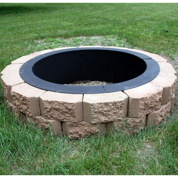 Picture of In Ground Fire Pits Heavy Duty Fire Pit Rim Make Your Own In Ground Fire Pit