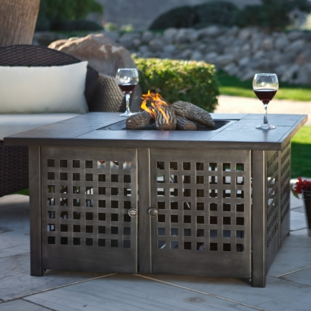 Picture Of Uniflame Gas Fire Pit Uniflame Grey Slate Top Lp Gas Fire Pit  With Free
