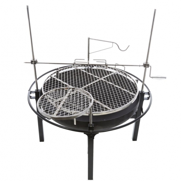 Stylish Cowboy Fire Pit Grill Rivergrille Cowboy 31 In Charcoal Grill And Fire Pit Gr1038