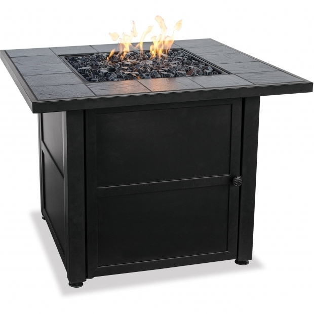 Stylish Uniflame Gas Fire Pit Uniflame Lp Gas Ceramic Tile Fire Pit Table Walmart