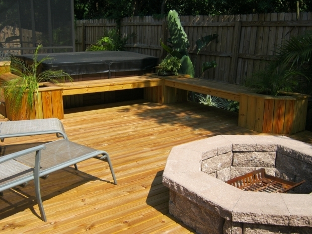 Wonderful Fire Pit On Wood Deck Outdoor Fire Pit For Wood Deck Regarding The House Sakesho