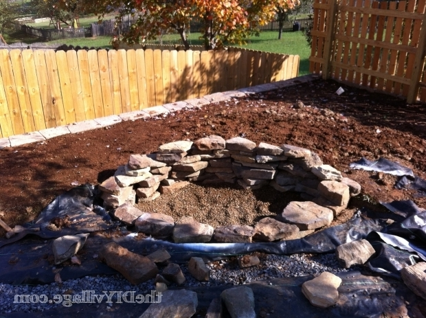 Wonderful How To Build A Fire Pit With Rocks Building A Stacked Stone Fire Pit The Diy Village