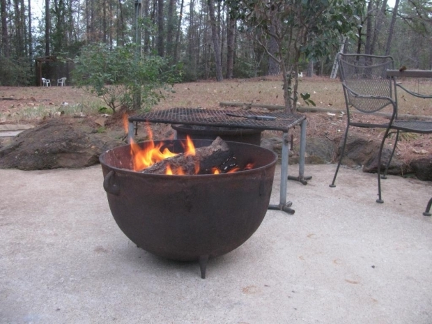 Alluring Cauldron Fire Pit Cast Iron Wash Pot As A Fire Pit Texags