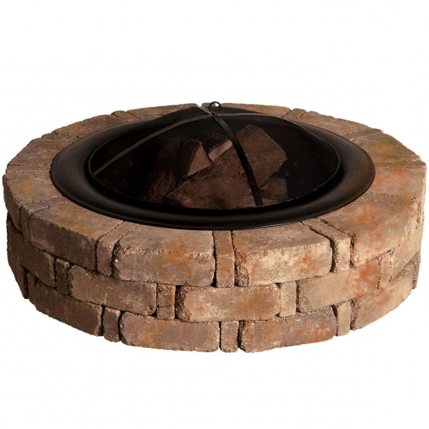 Alluring Home Depot Fire Pit Insert Rumblestone 46 In X 105 In Round Concrete Fire Pit Kit No 1 In