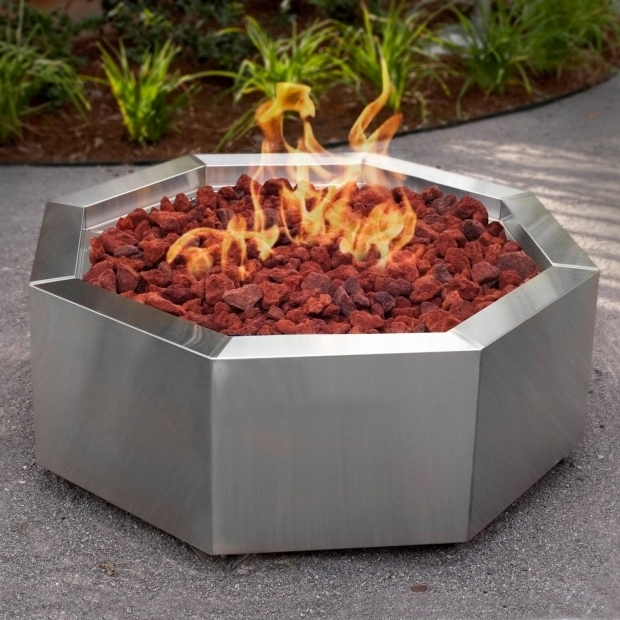 Alluring Octagon Fire Pit Bbqguys 42 Inch Stainless Steel Octagon Fire Pit Natural Gas