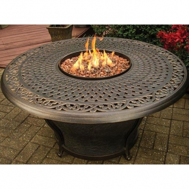 Alluring Round Gas Fire Pit Table Fire Pit Tables Youll Love Wayfair