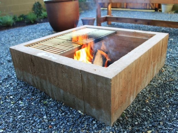 Amazing Concrete Fire Pit Exploding Concrete Firepit Crafts Home