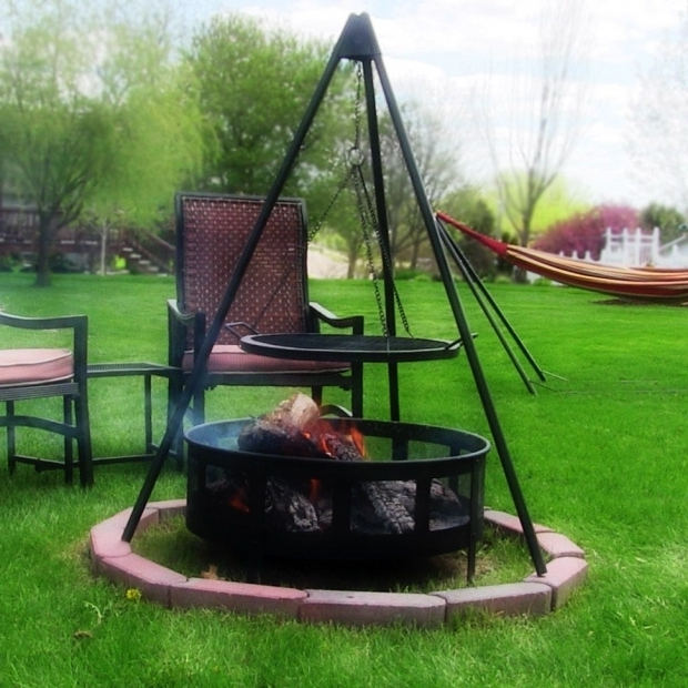 Amazing Fire Pit Tripod Firepit Tripod Grill With 22 Cooking Grate Sunnydaze