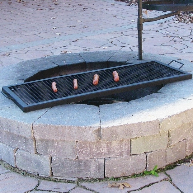 Amazing Grill Rack For Fire Pit Rectangle Outdoor Wood Fire Pit Mesh Cooking Grill Grate Ebay