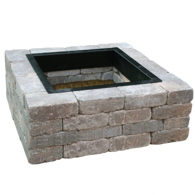 Amazing Square Fire Pit Liner Anchor Fresco 44 In X 16 In Northwoods Tan Concrete Fire Pit Kit