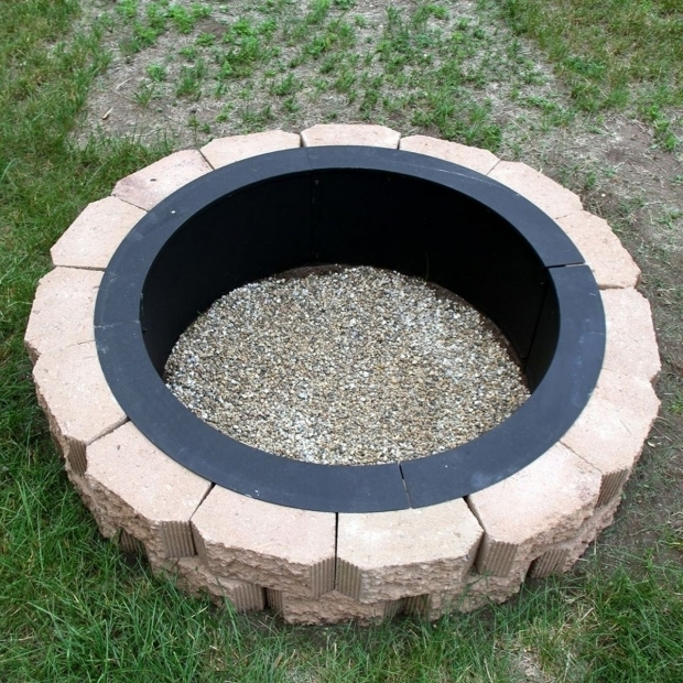 Awesome Above Ground Fire Pit Outdoor Fire Pit In Ground Intended For Your Own Home Sakesho